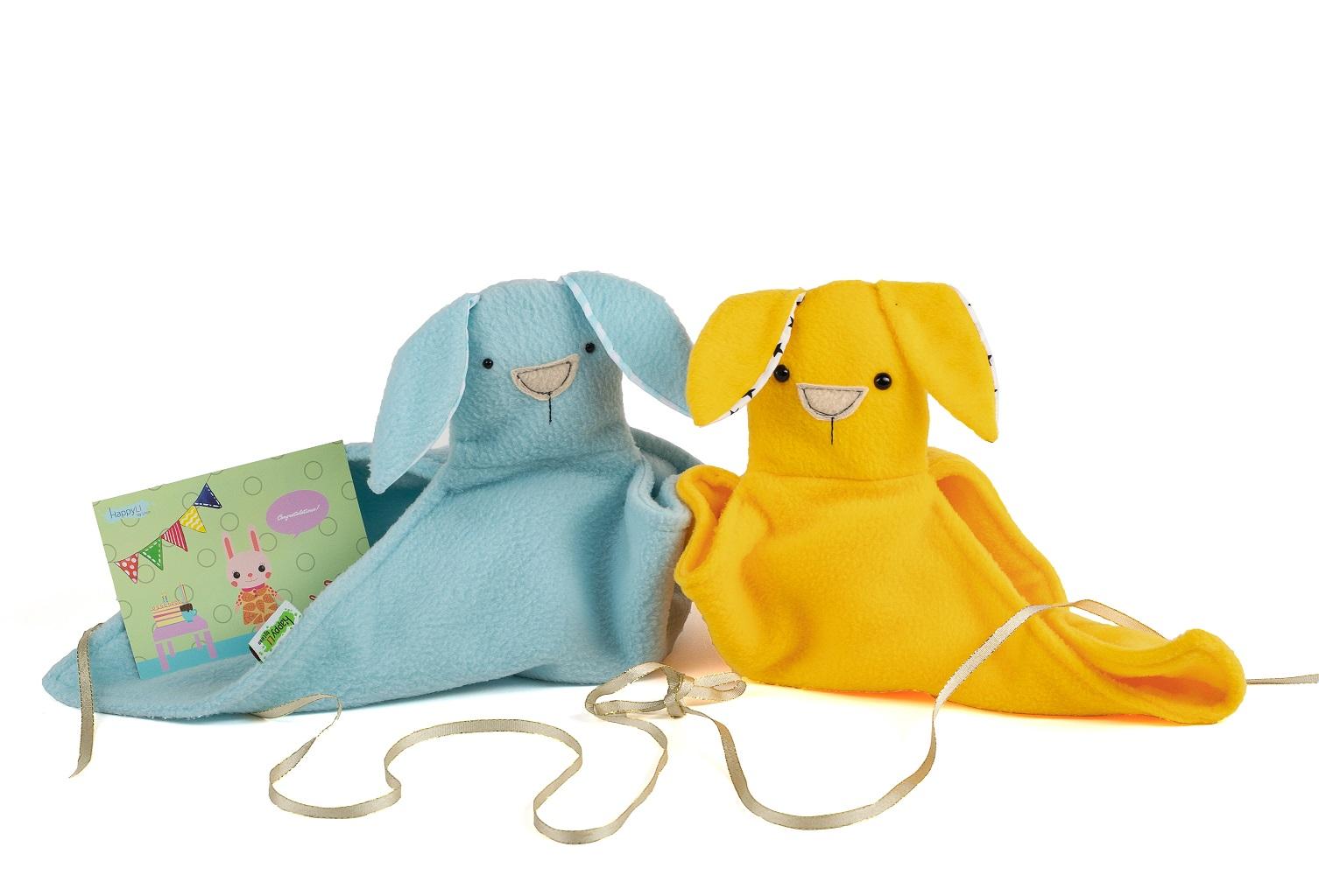 מתנה הלידה המושלמת: שני שמיכי (צבעים ובדים לבחירתך)