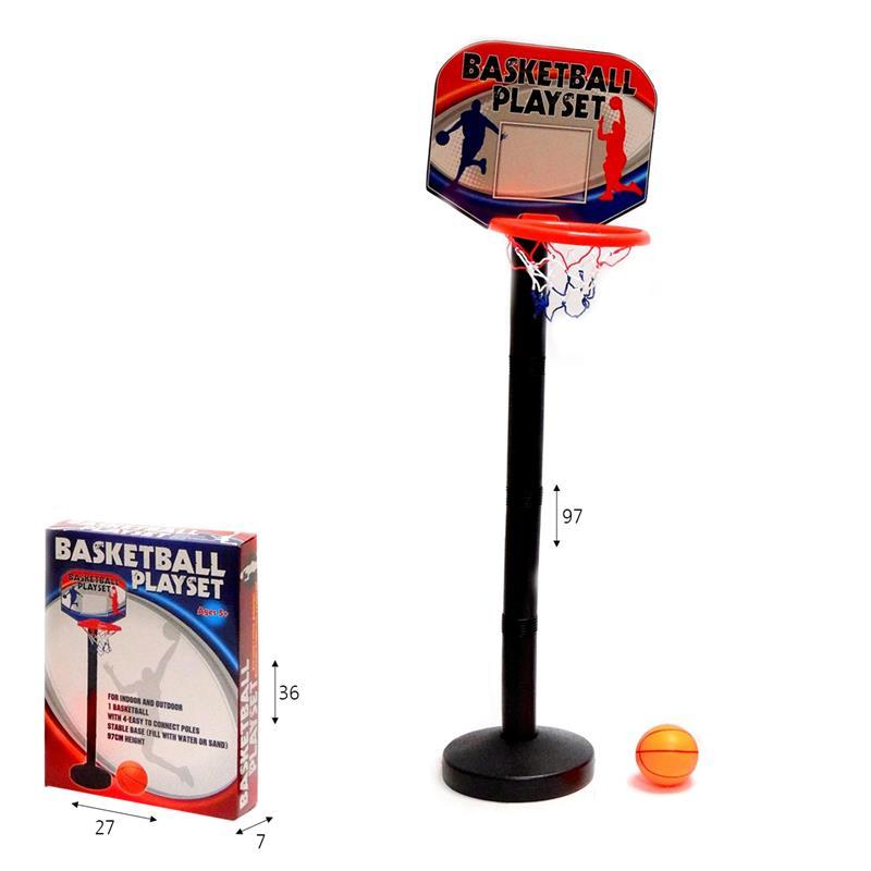 מעמד כדורסל פלסטיק עם כדור