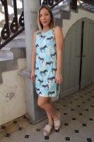 שמלת גלי זברה