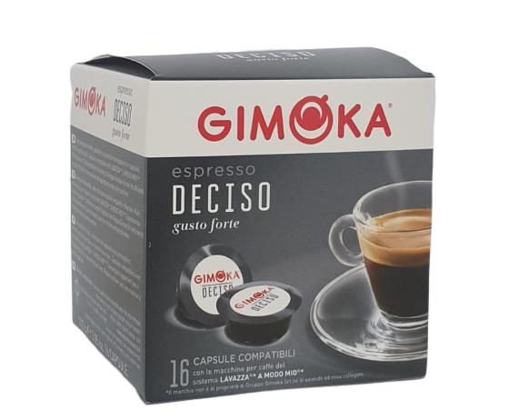 16 קפסולות תואם מודו מיו גימוקה Gimoka Espresso Deciso