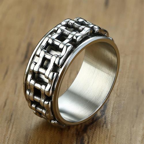 טבעת פלדת אל-חלד מסתובבת לגברים / נשים