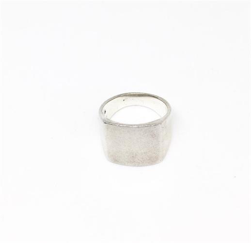 טבעת מרובעת כסף