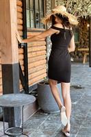 שמלת ריילי אוף שולדרס שחורה