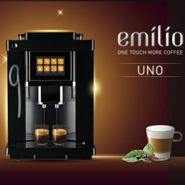 מכונת קפה עם מסך טאצ' EMILIO -UNO ONE TOUCH CAPPUCCINO