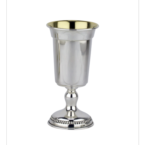 גביע קידוש מכסף טהור דגם זכריה חלק