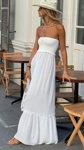 שמלת מקסי סטרפלס וואל פסי לורקס
