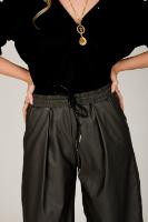 מכנס קפרי אפור/שחור