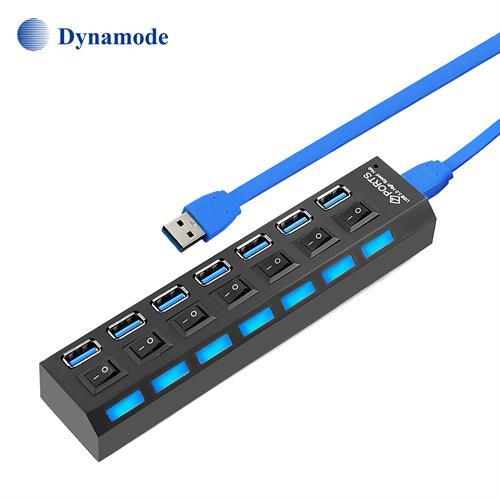 מפצל USB 3.0 עם 7 כניסות מבית Dynamode