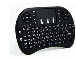 מקלדת מיני אלחוטית מקצועית+משטח מגע דגם rii-i8 למגוון טלויזיות חכמות/מחשבים/סטרימרים