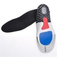 זוג מדרסי ספורט עם יחידת סיליקון ג'ל להפחתת הלחץ על הרגל