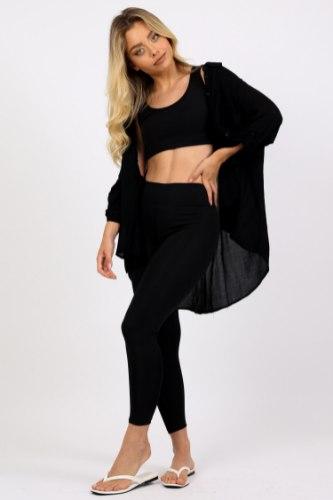 חולצת  נדין  שחור