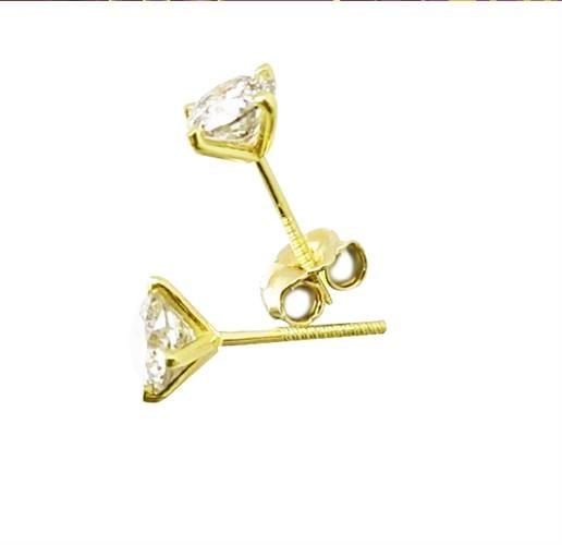 עגילי יהלומים 1 קראט דגם מרטיני   עגילי יהלומים צמודים לאוזן   עגילי יהלומים סוליטר בזול