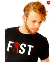חולצת t פיסט שחורה בגודל m
