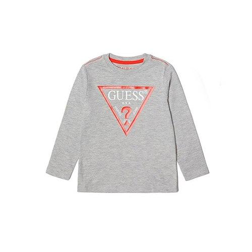חולצת GUESS אפורה לוגו אדום - שרוולים ארוכים - NB - שנים