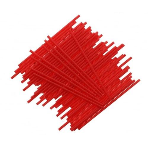 מקלות פלסטיק אדום ליצירה בשוקולד ובמרשמלו - 10 יחידות מקלות פלסטיק אדומים ליצירה חדש מאתי דבש