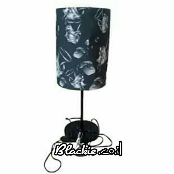 """מנורת שולחן הדפס גראפי """"סוכנות"""""""
