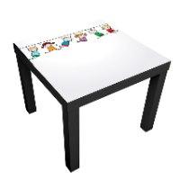 1 יח' טפט דביק מותאם לשולחן (LACK)- ילדים נתלים על חבל