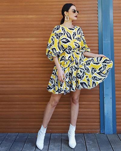 שמלת שלכת צהובה