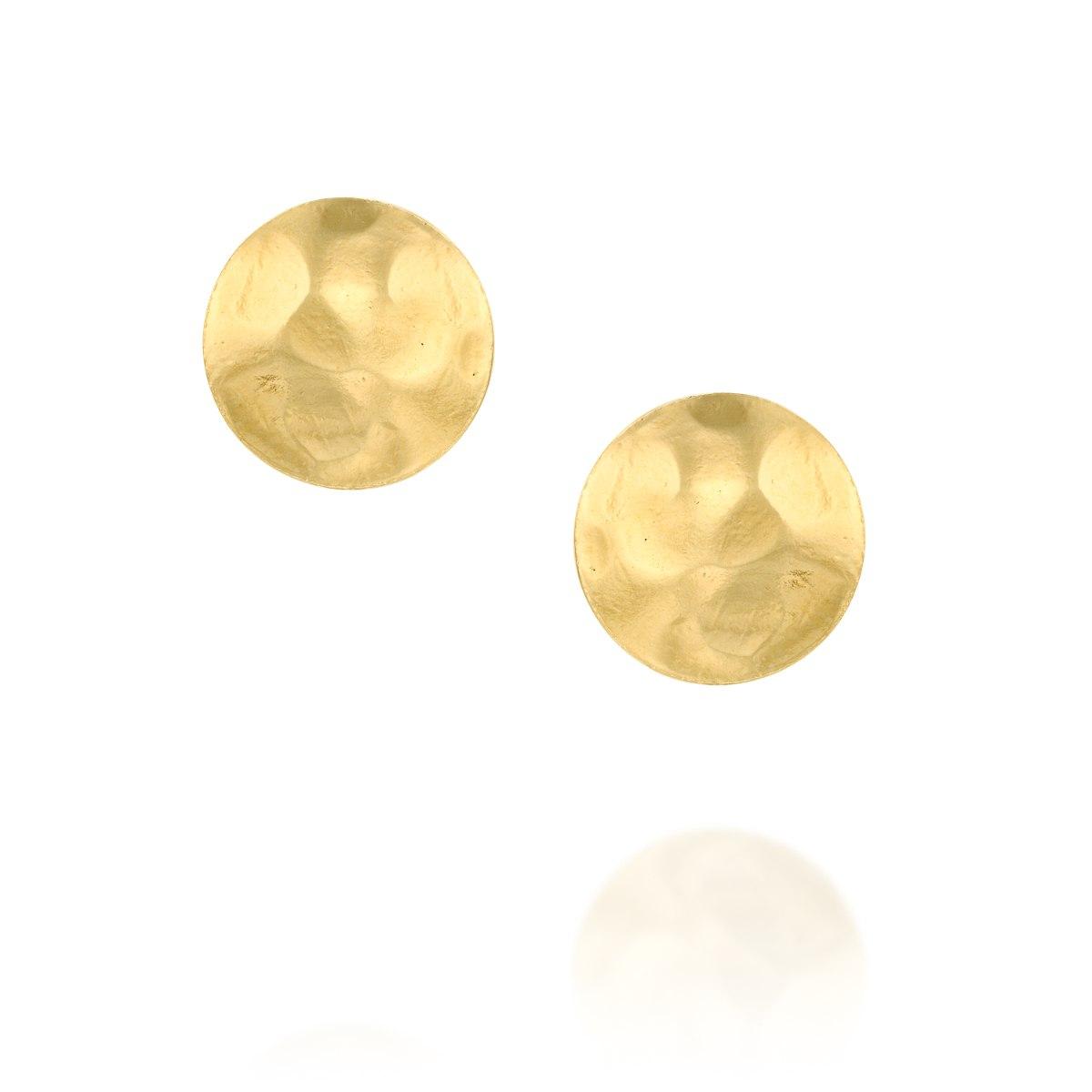 עגיל צמוד ציפוי זהב 1 מיקרון עיגול מרוקע נועה טריפ noa tripp
