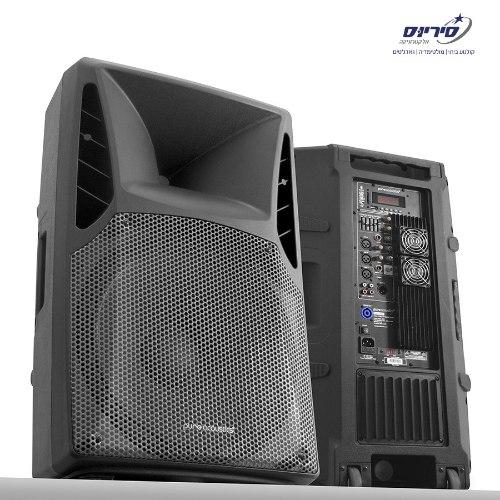 רמקול מוגבר מקצועי 15' 400W RMS עוצמתי ואיכותי מבית Pure Acoustics דגם PSX-15400