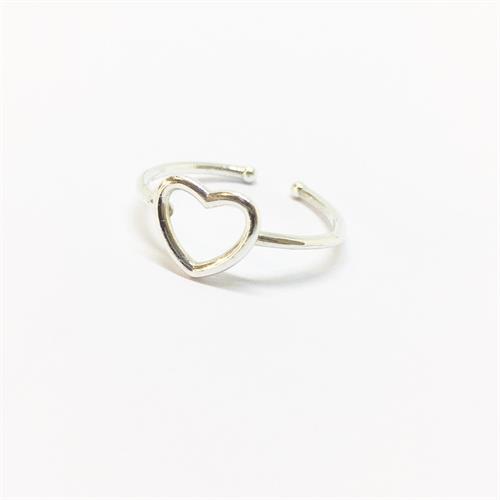 טבעת לב קטנה כסף