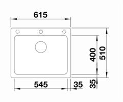 כיור מטבח בלנקו פיוראדור יחיד דגם נאיה 6 NAYA - מוצר מקורי - יבוא מקביל