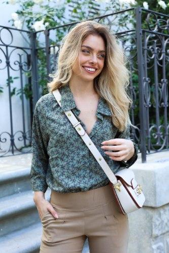 חולצת אוברסייז נדין ירוק פרחוני