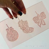 Set Of 3 Embosser Stamps Christmas Ornaments    Flexible Embosser Polymer   New 2021 Embosser Stamp