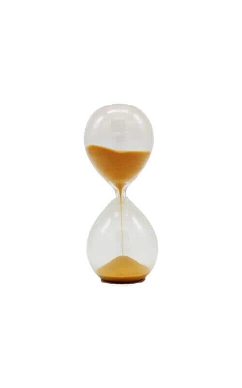שעון חול זכוכית קטן