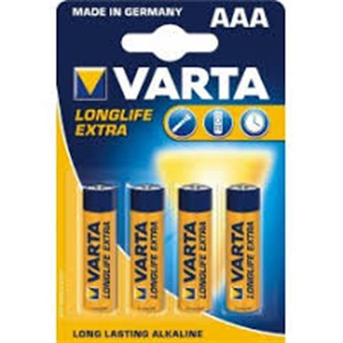 סוללות אלקליין ALKALINE AAA VARTA כמות 12 יחידות