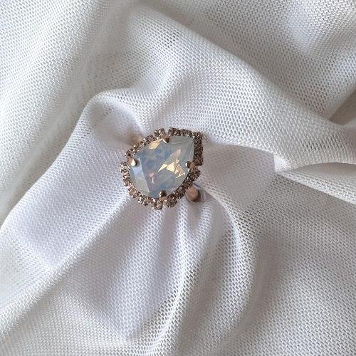 טבעת טיפה מיני - מטאלי זהב אדום