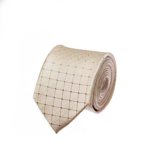 עניבה קרם לורקס זהב דגם מעויין