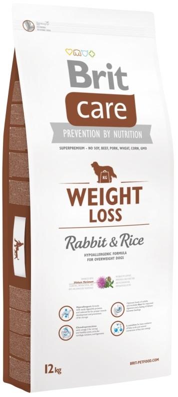 """בריט קר בוגר ע""""ב ארנבת ואורז 12 ק`ג לכלבים עם משקל עודף"""
