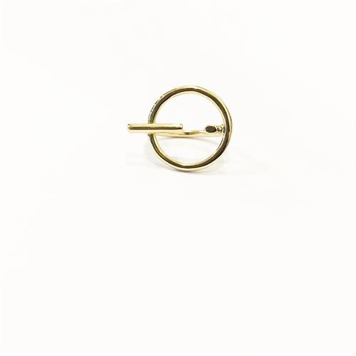 טבעת ריי זרת זהב