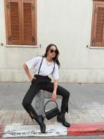 מכנס סאב שחור פסים