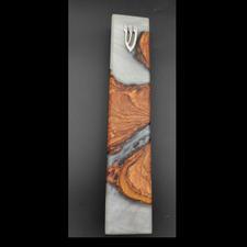 מזוזה עץ בשילוב אפוקסי עבודת יד 4
