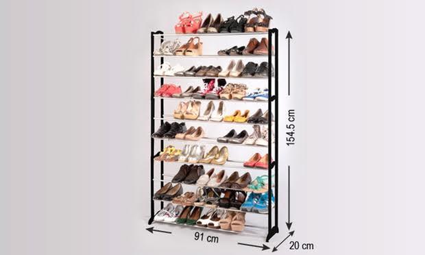 ארון נעליים מודולרי ל 50 זוגות ללא כיסוי