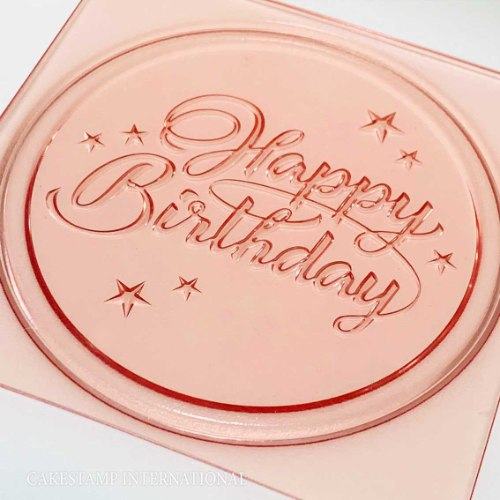 HAPPY BIRTHDAY בכתב מעוגל תבנית טופר עם כיתוב | טופר לעוגת אהבה יום הולדת | חדש מאתי דבש 2021