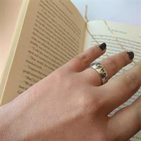 טבעת עבה בגימור מבריק