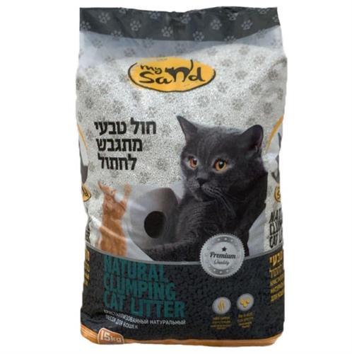"""חול מתגבש איכותי לחתולים 15 ק""""ג"""