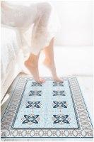 שטיח פי.וי.סי אפור תכלת TIVA DESIGN קיים בגדלים שונים