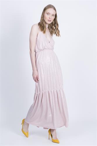 שמלת אנה ורוד כסף לורקס