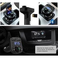 משדר fm איכותי x7  לרכב+עם חיבור בלוטוס לשמיעת מוזיקה+דיבורית+הטענת ניידים