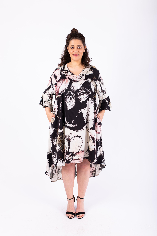 שמלת ג'וי מודפסת