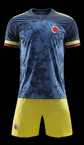 תלבושת הדמייה נבחרת קולומביה כחולה צהובה