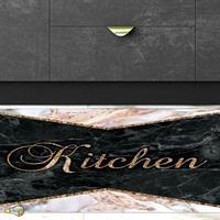 """שטיח פי וי סי למטבח """"שיש חצוי""""  שטיח למטבח  שטיח פי וי סי   שטיח PVC   שטיחי פי וי סי מעוצבים"""