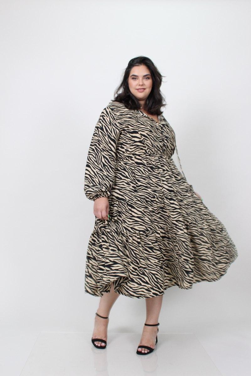 שמלת אייבי זברה