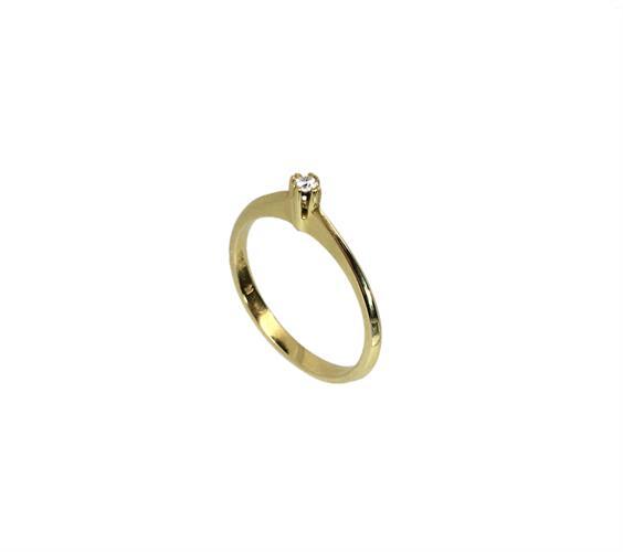 טבעת אירוסין זהב צהוב 18K יהלום מרכזי OP09150058930