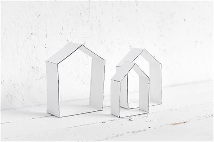 סט שלישיית בתים - לבן