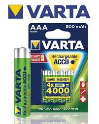 סוללות נטענות ורטא VARTA 4 AAA 800MA RECHARGEABLE